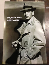 Humphrey Bogart Poster! Casablanca, Petrified Forest, Maltese Falcon. New! Star!