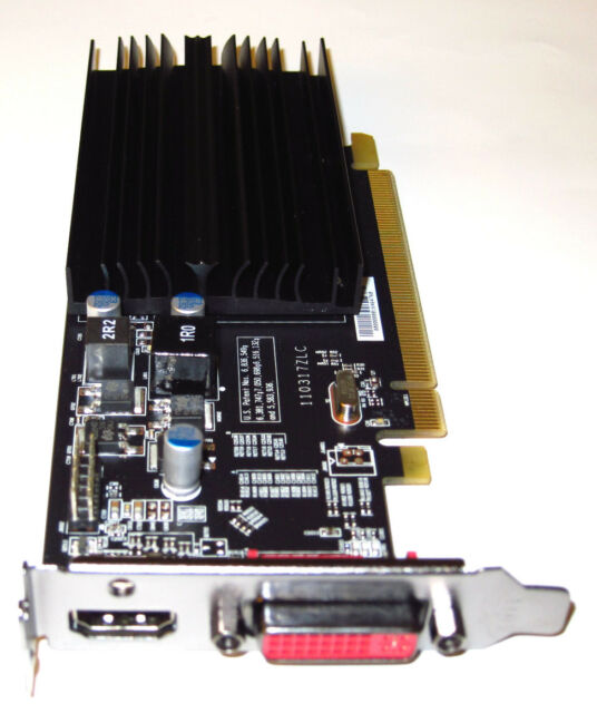 1GB Low Profile Half Height Size Length Single Slot PCIe x16 Video Graphics Card