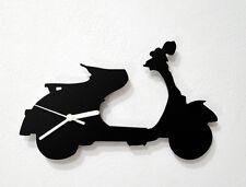 Vespa Scooter Silhouette - Wall Clock