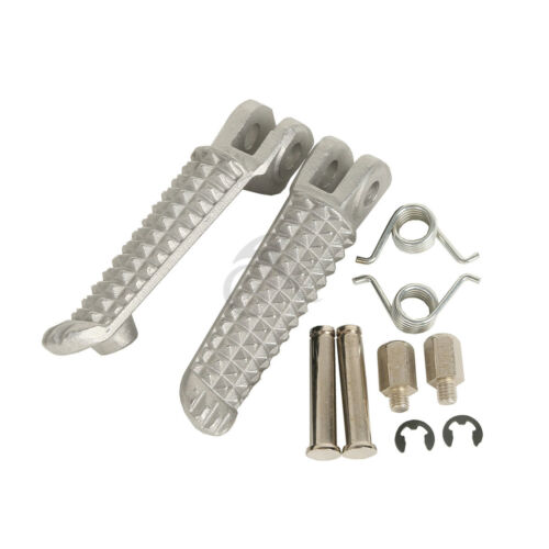 Front Silver Foot pegs Left Right Fit Yamaha YZF R6S 2003-2008 YZF R6 1999-2012
