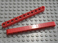 LEGO Technic red Beam 11 ref 32525 / set 8258 8289 8285 8274 8288 8653 8386 8674