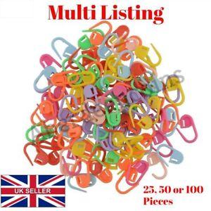 25-100-STITCH-HOLDERS-MARKER-PLASTIC-LOCKING-CROCHET-KNITTING-CRAFT-NEEDLE-CLIPS