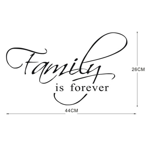 Self-adhesive Family Is Forever Wall Sticker Removable Mural Home Decor Mystic