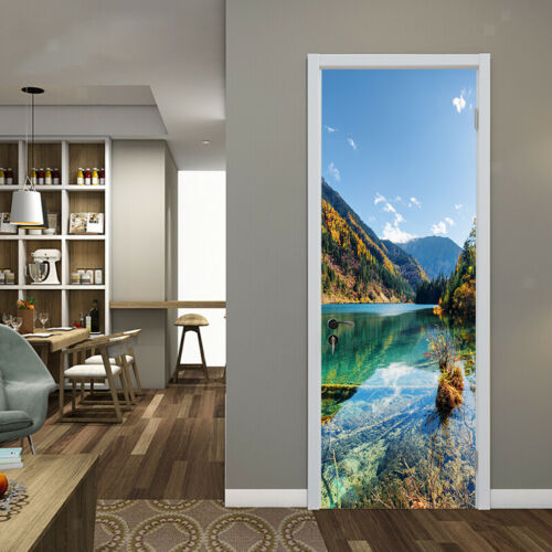 DIY 3D Self Adhesive Door Wall Fridge Sticker Decal PVC Art Mural Decal