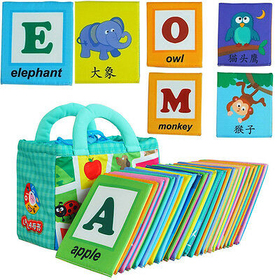 Baby 26PC Colorful Letters Card Kid Alphabet Child Educational Learning Toy Gift