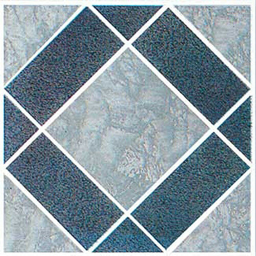 Actual 12/'/' x 12/'/' Gray Vinyl Floor Tile 40 Pcs Adhesive Bathroom Flooring
