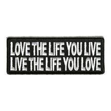Embroidered Love The Life You Live Live The Life You Love Iron on Biker Patch