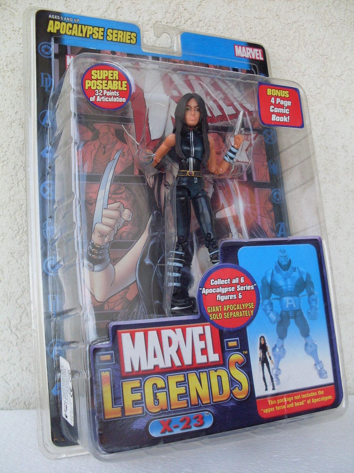 X 23 action figure apocalypse series poseable comic book marvel legends 71143