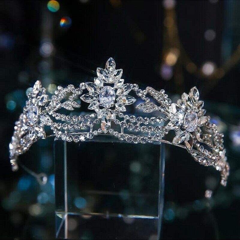Bridal Hair Wedding Princess Crystal Tiara, Headband, Crown Baroque Vintage