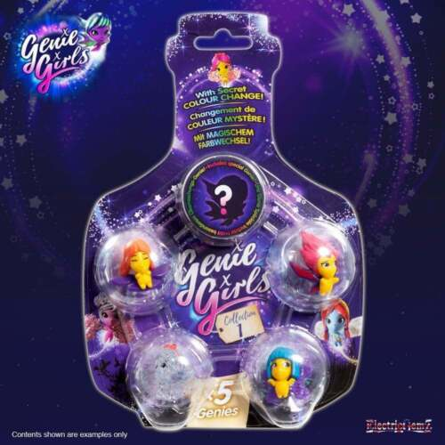 Genie Ragazze 5 Pack-Collection 1-5 FIGURE CON SEGRETO variazione di colore