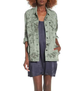 585292f1fc1231 Obey Women s Field Jacket Charlie Military Sage Green Size S NWT ...