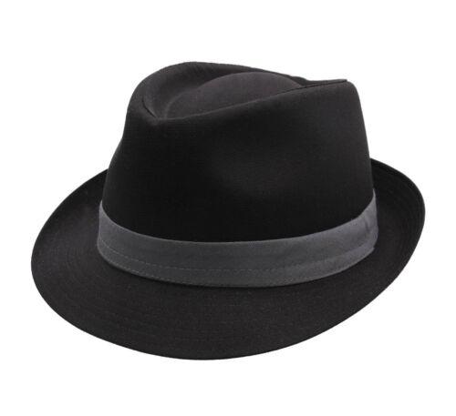 noir-gris Chapeau trilby homme ou femme Classic Trilby