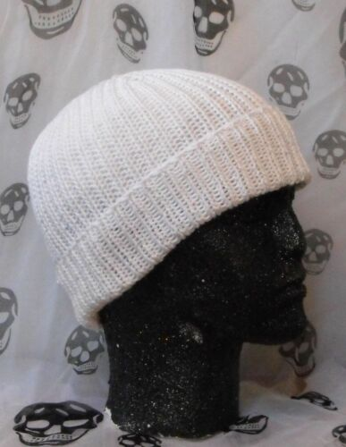 PRINTED INSTRUCTIONS-ALL RIB COTTON BEANIE HAT KNITTING PATTERN EASY