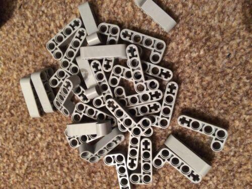 5 x Lego 2x4 Gris L forme Bent Technic lift bras épais Brique pièces parts