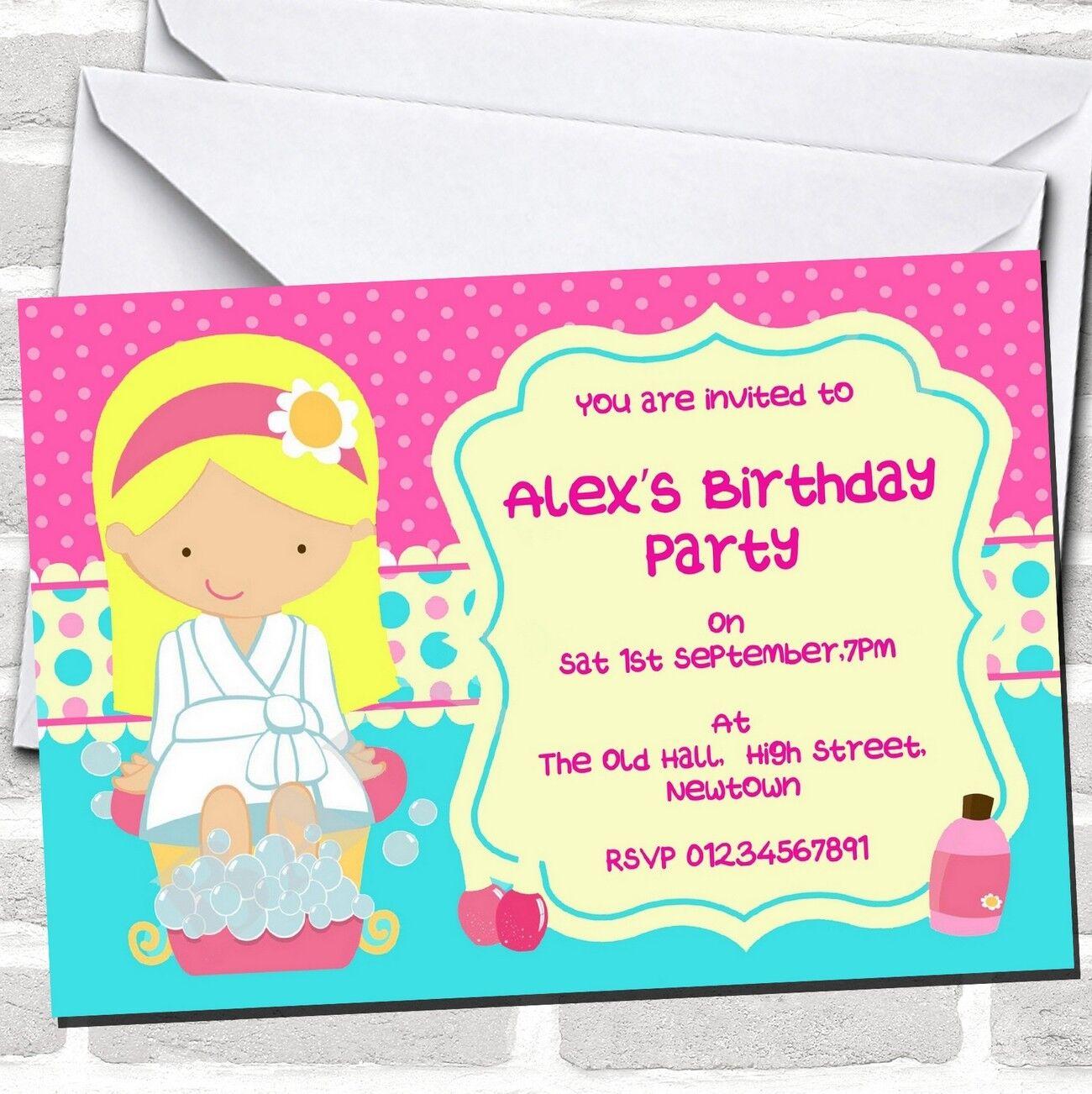 Cambio de imagen de Uñas Spa tema Invitaciones de Fiesta de Cumpleaños
