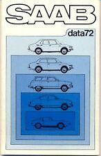 Saab 95 96 99 Sonett III multi-language DATA brochure 1971