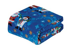 NEW-Ultra-Cozy-amp-Soft-Christmas-Holiday-Santa-Snowman-Plush-Warm-Throw-Blanket