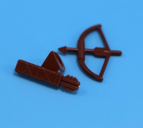 Lego Brown Quiver and bow /& arrow for mini figures Minifigure Accessory