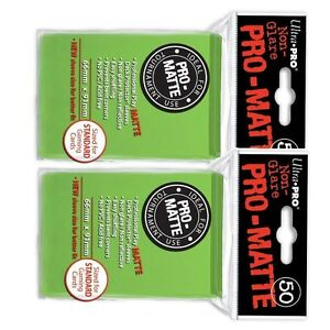 Ultra-Pro-Lime-Green-Pro-Matte-Deck-Protector-Sleeves-Sealed-x100-Magic-FREE-S-H