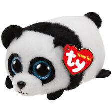 "TY Teeny Tys Puck Panda Beanie Babies 3"" Stuffed Plush Toy Stackable Tsum Tsum"
