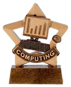 Gravé Gratuit Personnalisé Mini Star Informatique Ordinateur Trophée GW
