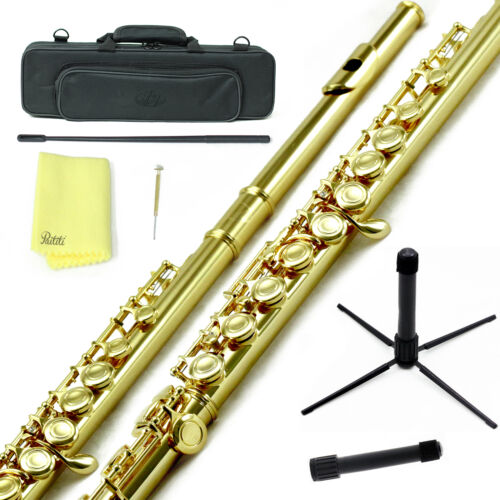 Cloth and More Cleaning Rod Sky Gold Plated C Close Hole Flute w Case Stand
