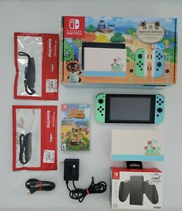 Nintendo Switch Animal Crossing Bundle With Game Accessories Memory Card