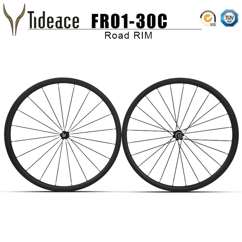 Road Racing Bicycle Frames Wheels T800 Carbon Fiber 30mm Wheelset OEM 271 Hubs