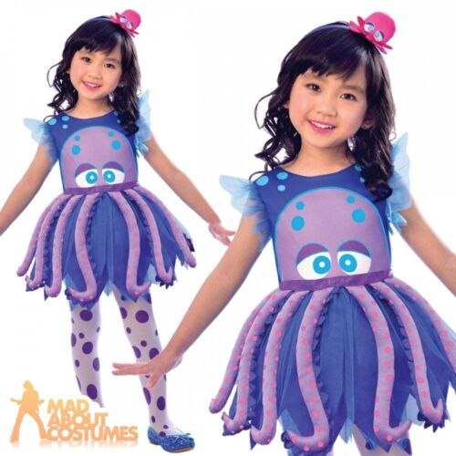 Girls Octopus Costume Childs Sea Life Kids Fish Fancy Dress Book Week Outfit