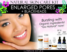 Natural Skin Care Kit For Enlarged Pores and Blackheads Pore Refining Set of 6