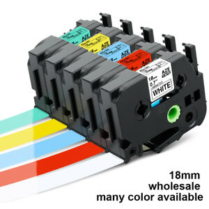 TZ TZe241 441 541 641 741 941 345 Compatible with Brother PTouch Tape Label 18mm