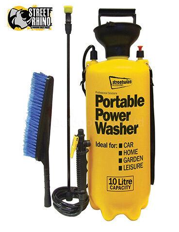 10Ltr Portable Power Jet Washer Caravan Conservatory Boat Motor Bike Cleaner