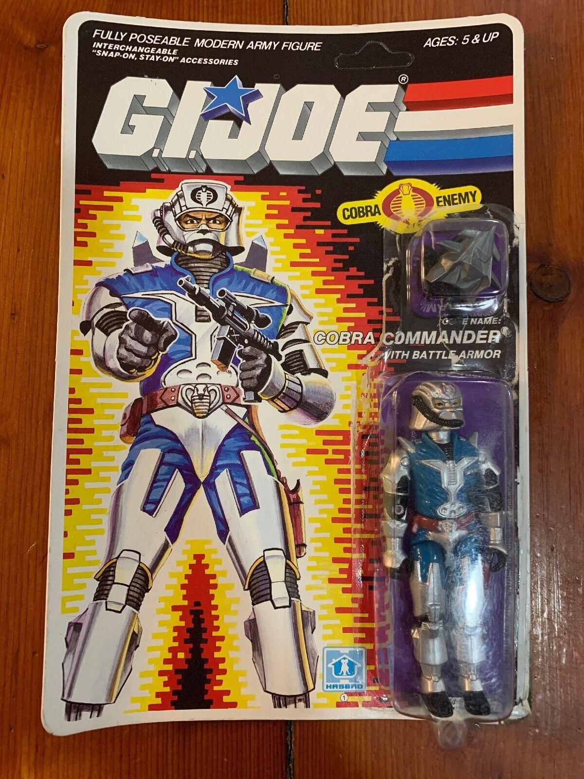 G.I. Joe 1987 Vintage Hasbro Cobra Commander un verdadero héroe americano original completa en tarjeta