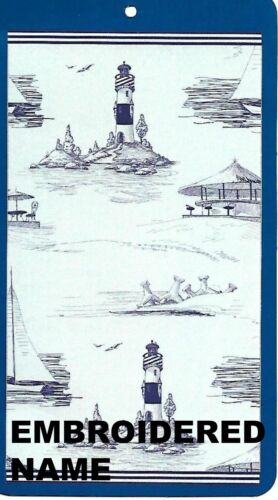 "Pool Towel With Lighthouse /& Boat 40/"" x 72/"" Oversized Name Embroidered Beach"