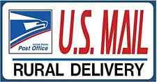 "U.S. Mail Delivery Magnetic Sign. Rural Delivery Carrier Magnet USPS - 6""X12"""