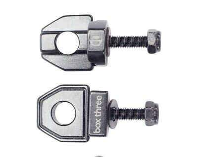 "TNT Bicycles 3//8/"" BMX Chain Tensioners w// 6mm adapter Pair Silver"