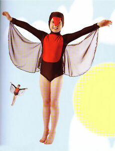 Image is loading IN-STOCK-Bird-Dance-Costume-Wings-Chick-Swan- & IN STOCK Bird Dance Costume Wings Chick Swan Blackbird Robin 3A ...