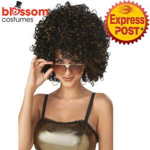 W612-Disco-Glitter-Afro-Costume-Wig-Curly-Disco-1960s-1970s-Groovy-Retro-Funky