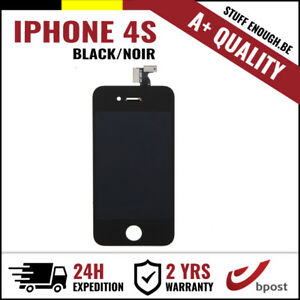 A-LCD-TOUCH-SCREEN-VITRE-TACTILE-DISPLAY-SCHERM-ECRAN-BLACK-NOIR-FOR-IPHONE-4S