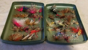 60  #C Top Bead Head Nymph Trout Flies w//box Quality Trout Fly Box Assortment
