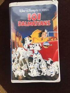 Vintage VHS w/Clamshell 101 Dalmatians Disney Original Classics Black Diamond