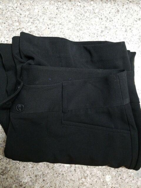 Rafaella Black Womens Size 18W Plus Curvy-Fit Dress Stretch Pants