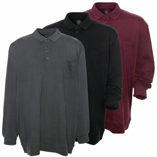 KITARO Polo Polo Shirt Swaetshirt US Manches Longues Hommes plusgröße