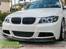 09-11 BMW E90 E91 Sedan M-Tech M-Sport AK Style Front Bumper Lip Carbon Fiber