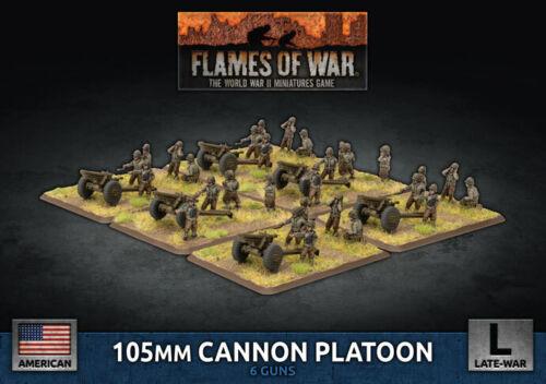 Flames of War Entièrement neuf dans sa boîte 105 mm Cannon peloton UBX82