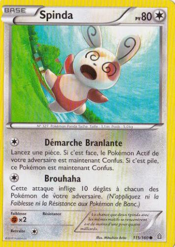 115//160 Spinda Carte Pokemon Neuve Française XY5:Primo Choc