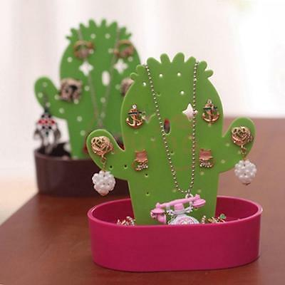 Cactus Shaped Earring Jewelry Show Plastic Display Stand Organizer Holder