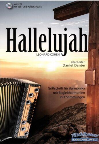 Steirische Harmonika Noten : Hallelujah Cohen Griffschrift mit CD