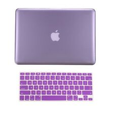 """2 in 1  PURPLE Crystal Hard Case for Macbook PRO 15"""" A1286 with Keyboard Cover"""