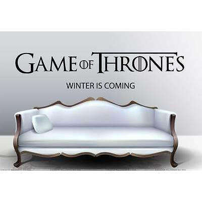 GAME OF THRONES WALL STICKER / LOUNGE DECOR / DECAL